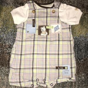 Baby Boy Shorts Overall Outfit